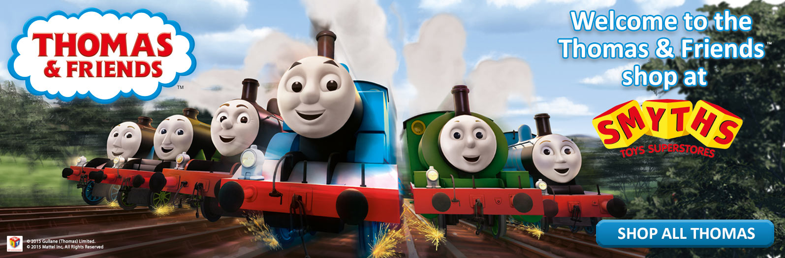 Welcome to the Thomas and Friends Shop at Smyths Toys Superstores!