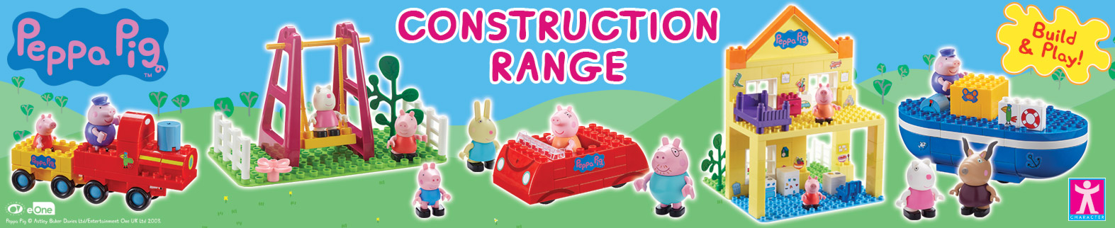 Peppa Pig Construction Toy Range