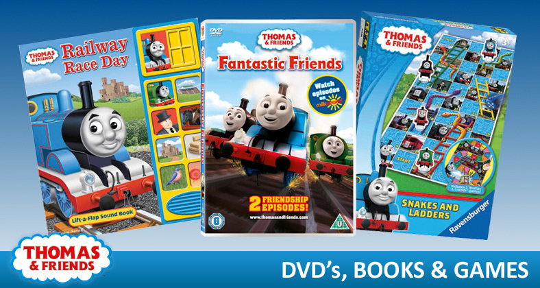 Thomas and Friends dvds, books and games