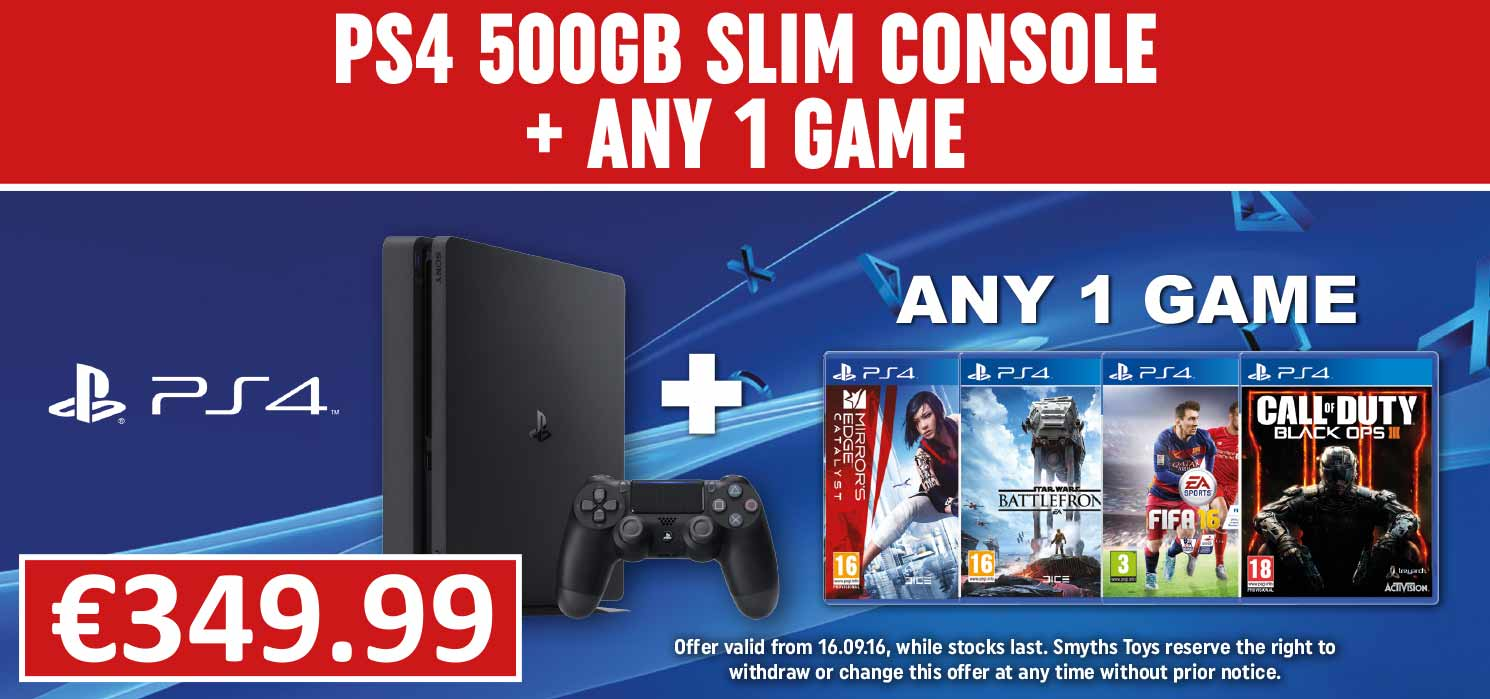 PS4 500GB Bundle with Any Game