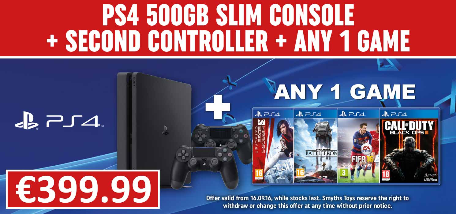 PS4 500GB Bundle with Any Game and Extra Controller