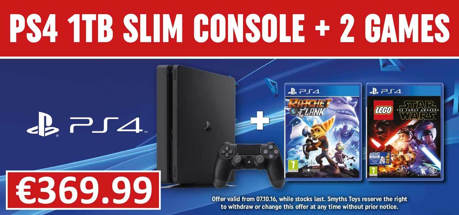 PS4 1tb Slim Console with two select games
