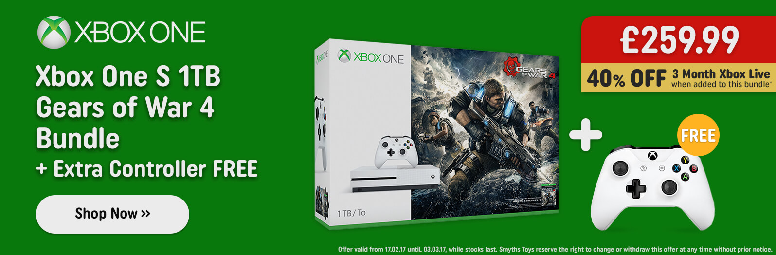 Xbox One Gears of War Bundle with Extra Controller