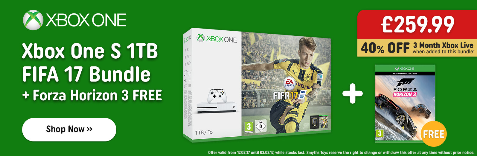 Xbox One FIFA Bundle with Forza